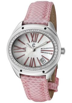 Charriol FCS-81-1-87-FS03 Women's White Diamond White MOP Dial Pink Pearl Karung Snake Watch  http://www.originalwatchstore.com/brand/charriol/