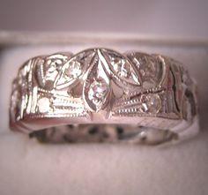 Antique Diamond Eternity Band Wedding Ring
