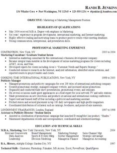 Examples Of Marketing Resumes Objective If You Want To Become A Good  Marketer, You Should