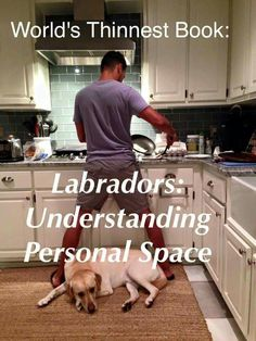 World's thinnest book.....Labradors: Understanding personal space