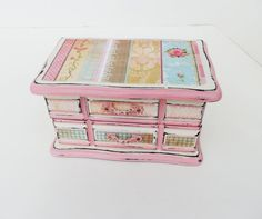 Your place to buy and sell all things handmade Girls Jewelry Box, Jewelry Chest, Jewelry Storage, Jewelry Organization, Altered Boxes, Annie Sloan Chalk Paint, Moose, Shabby Chic, Hand Painted