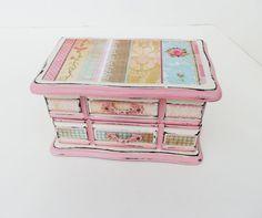Girls Jewelry Box Ladies Upcycled Jewelry by TreasuresbyMarylou, $35.00
