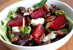 Baby Greens & Beets Salad | FaveHealthyRecipes.com