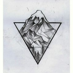 * I like the geometric shapes of the mountain and the triangle border.