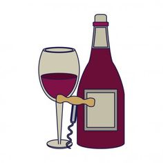 Red Wind, Wine Glass, Illustration, Wine Cask, Coffee Drawing, Vector Illustrations, Concept, Gastronomia, Illustrations