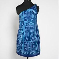 With an asymmetric one shoulder neckline, this true blue dress is sure to impress. Navy and Ocean Blue African Wax Print 100 Percent Cotton Length approx 34 inches Shoulder to Hem Fully Lined Side Zipper Trendy Dresses, Blue Dresses, Summer Dresses, Formal Dresses, African Print Dresses, African Dress, Handmade Gifts For Friends, Ethnic Fashion, Womens Fashion
