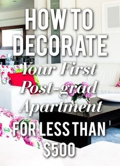 How To Decorate Your First Post-Grad Studio Apartment Boho Apartment, 1st Apartment, Dream Apartment, Apartment Living, Decorate Apartment, Apartment Ideas, Apartment Hunting, Apartment Checklist, Apartment Goals