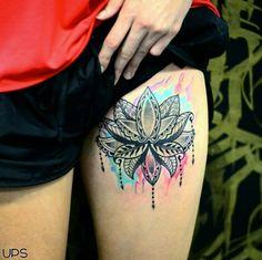 160 Elegant Lotus Flower Tattoos And Meanings cool