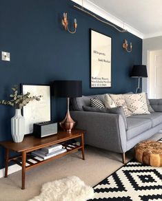 Pantone Colour of the Year 2020 – Classic Blue — Melanie Jade Design – Office lounge Navy Living Rooms, Blue Living Room Decor, New Living Room, Interior Design Living Room, Living Room Designs, Small Living, Cozy Living, Good Living Room Colors, Blue Rooms