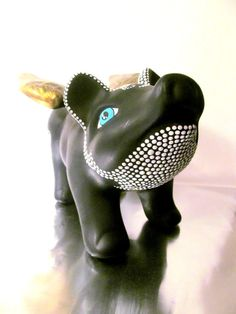 Piggy Bank Flying Pig Piggy Bank Black with by PearlesPainting, $72.00