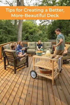 Learn how to build a deck that's more beautiful, comfortable, and longer-lasting. || #kregjig #kregtool #kreg #tools #DIY #diyproject #deck #decking #backyard #summer #entertaining #outdoors #woodworking #woodprojects Above Ground Pool, In Ground Pools, Outdoor Projects, Wood Projects, Kreg Tools, Cool Deck, Kreg Jig, Building A Deck, Outdoor Furniture Sets