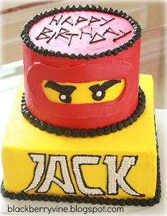 The Blackberry Vine: Lego Ninjago Cake - Kai