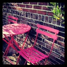http://www.fermob.com/en/Browse-our-furniture/Flagship-collections/Bistro Fermob French Bistro Table and chairs
