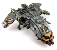 40k - Iron Warriors Space Marine Fire Raptor Gunship