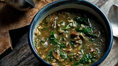 Mushroom-Spinach Soup With Cinnamon, Coriander and Cumin Recipe - NYT Cooking