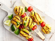 Curried Scallop Kebabs with Squash recipe from Food Network Kitchen via Food Network