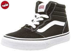 Y Milton Hi, Unisex-Kinder Hohe Sneakers, Schwarz ((Suede Canvas) Black/White), 36 EU Vans