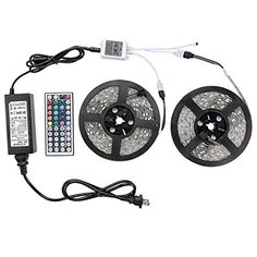WenTop® Led Strip Lights Kit SMD 5050 Waterproof 32.8 Ft (10M) 300leds RGB 30leds/m with 44key Ir Controller and Plug-in Power Supply for Pool, Car, Truck, Camper,Boat,Kichen Counter and More - http://www.caraccessoriesonlinemarket.com/wentop-led-strip-lights-kit-smd-5050-waterproof-32-8-ft-10m-300leds-rgb-30ledsm-with-44key-ir-controller-and-plug-in-power-supply-for-pool-car-truck-camperboatkichen-counter-and-more/  #More, #300Leds, #30LedsM, #328, #44Key, #5050, #CamperB