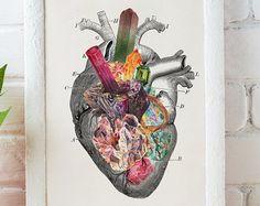 Love print , Minerals and stones Heart Print Chic love prints wall art, Stones and minerals, first aniversary gift SKA116WA4
