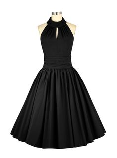 "Robe Soirée Pin-Up Années 50 Rockabilly Chicstar ""Marilyn Black"""