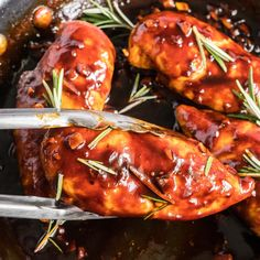 A simple homemade sauce is used to baste this Balsamic Glazed Chicken as it cooks. The result is tender chicken with a slightly sweet, and tangy taste. Chicken Sandwich Recipes, Easy Chicken Recipes, Balsamic Glazed Chicken, Recipe Using Chicken, Homemade Sauce, Chicken Tenders, Chicken Pasta, Tandoori Chicken, Dinner Recipes