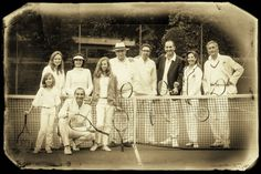 """""""Tennis vintage family picture"""""""
