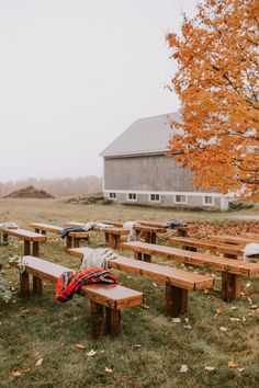 Moody Fall Barn Wedding In Maine 100 Layer Cake Party Ideas