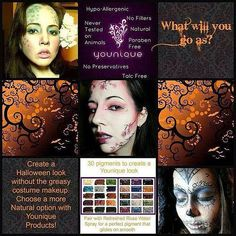YES! It's all YOUNIQUE! Why buy Halloween paint when you're going to use it only ONCE a year  Get our Younique pigments so that you can use it whenever you WANT!!! So, what will you go as for Halloween?? Purchase our pigments here now: http://9nl.us/YouniqueProductsbyJanny