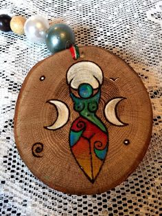 Rainbow Spiral Goddess Wall Hanging SIGN Wooden Plaque. Wicca Witch Pagan Art #wildseawitch