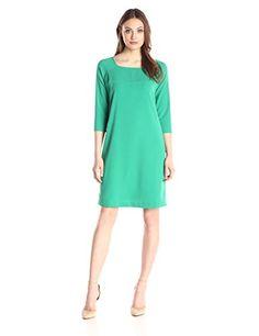 Lark /& Ro Damen Half Sleeve Front Twist Fit /& Flare Dress Marke
