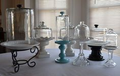 DIY Cake Plates and Pedestals by  Sherry of Thrift My House via Inspiration Cafe