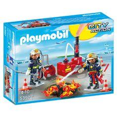 PLAYMOBIL City Action brandweermannen met blusmateriaal 5397