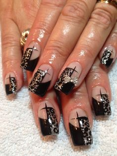 Gel nails Animal Print