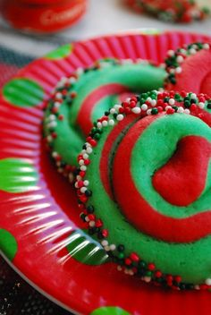 Grinch Swirl Christmas Cookies Recipe  (Click Photo for Recipe)