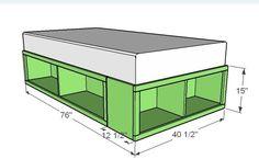 Ana Blanc | Construire un Twin Storage (Capitaines) Chambre | Projet de bricolage gratuit et facile et des plans de meubles