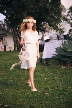 Tropical flower girl