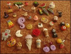 Polymer clay charms by VelvetNights.deviantart.com on @deviantART