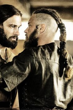 Vikings, Rollo and Ragnar, great tv, beard, powerful, intense, portrait, photo