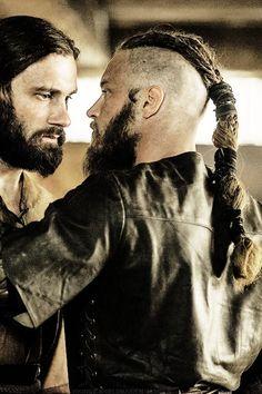 Vikings, Rollo and Ragnar, great tv, beard, powerful, intense, portrait, photo