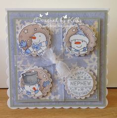 LOTV - Snowman Trio with Winter Wishes Paper Pad and Set 19 Sentiment by Kelly Lloyd