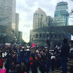 Copley Square in Boston right now. #resist #nobannowall #bostonstrong #protest