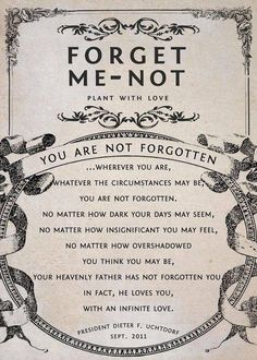 forget me not poem - Google Search