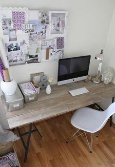 Feminine style home-office Decor