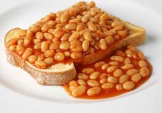 Classic beans on toast, also great on pizza.