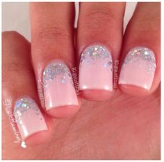 Pink and silver glitter