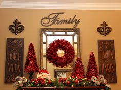 Christmas decorating - this would be cool for my buffet in the dining room