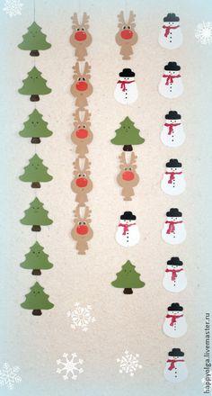 Купить Бумажная гирлянда Новый год - новогодний декор, для фотосессий, атрибуты для фотосессии, атрибуты для праздника, гирлянда