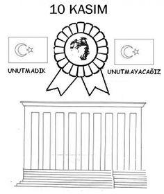 Anitkabir Ve Türk Bayragi Boyama Atatürk Okul Okul öncesi Ve