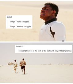 Things I receive: Struggles. I'm pretty sure everyone underestimates just how much I love Finn