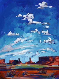 Utah Sky Oil Painting by Erin Hanson